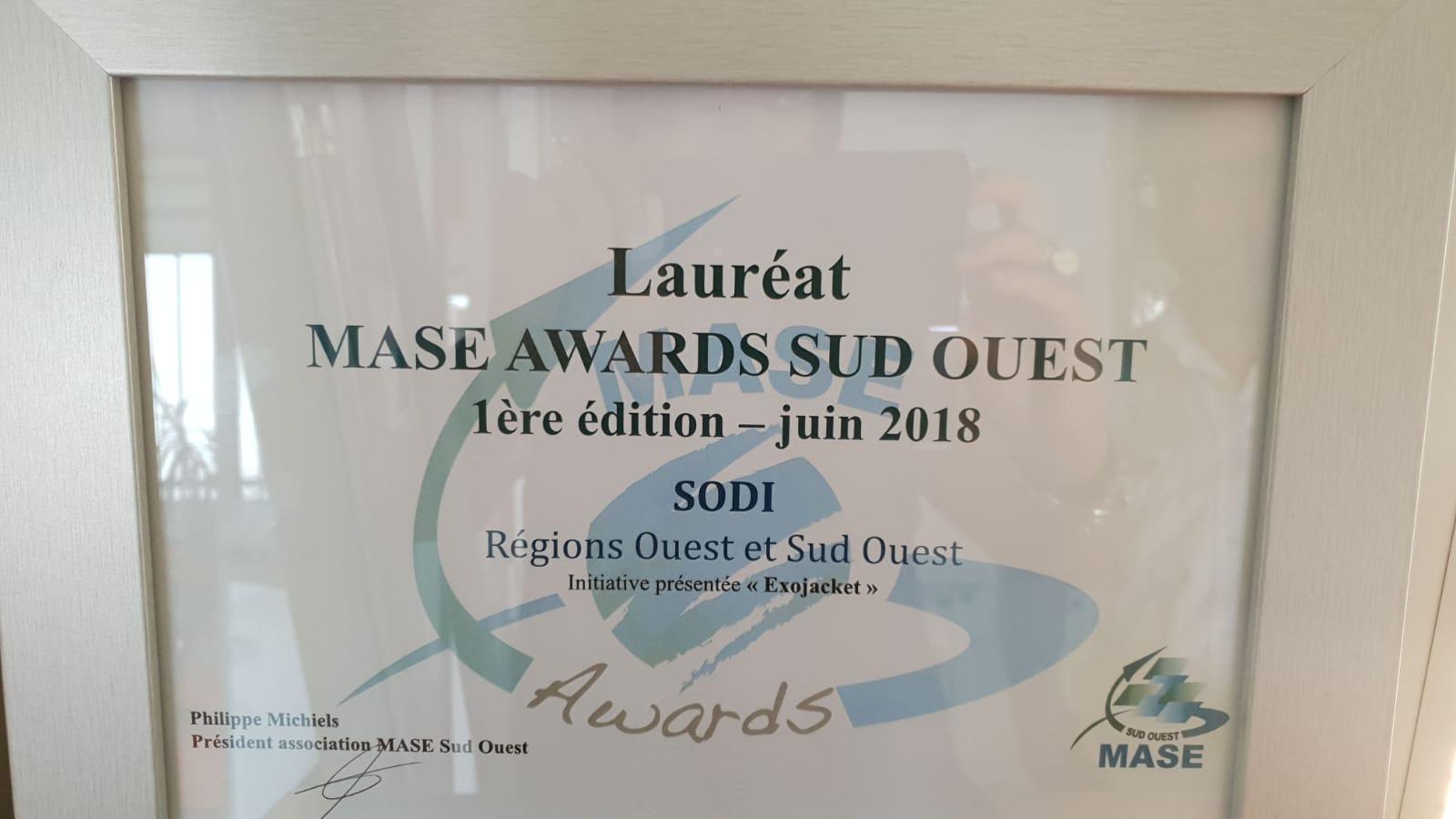 Lauréat MASE AWARDS SUD OUEST 2018
