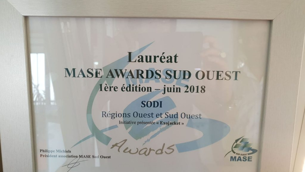 exojacket lauréat MASE AWARDS